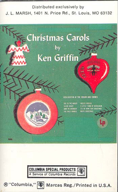KEN GRIFFIN: Christmas Carols by Ken Griffin at the Organ & Chimes Cassette Tape