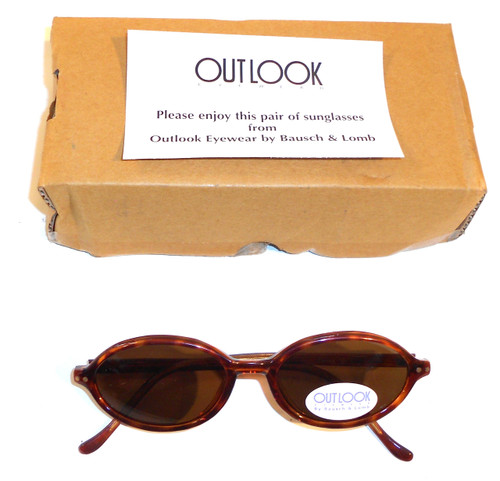 NOS Vintage Bausch & Lomb Outlook Faux Tortoiseshell Sunglasses