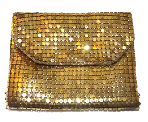Vintage Brass Chain Mail Change Purse Pocket Book Chainmail