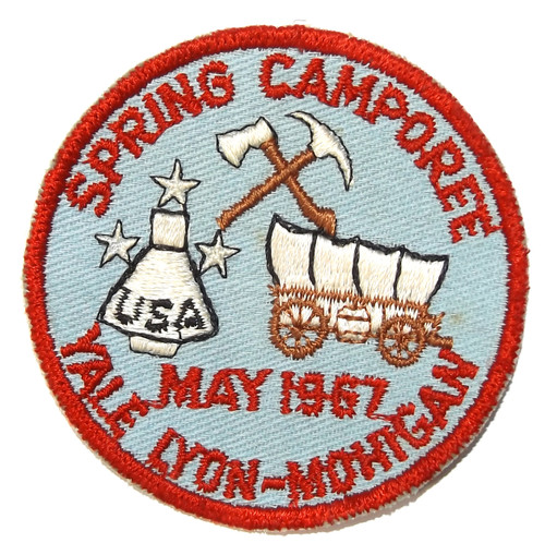 Vintage 1967 Spring Camboree Yale Lyon-Mohigan Boy Scouts Emroidered Cloth Patch