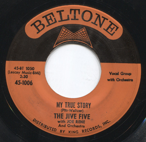 """The Jive Five: When I Was Single / My True Story - 7"""" Vinyl 45 rpm Record"""