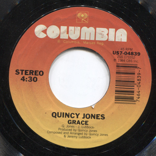 """Quincy Jones: Grace / USA for Africa: We are the World - 7"""" Vinyl 45 rpm Record"""