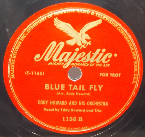 Eddy Howard & Orchestra: An Apple Blossom Wedding / Blue Tail Fly - 78 rpm Record
