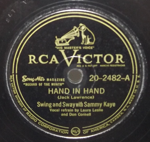 Swing and Sway with Sammy Kaye: Hand in Hand / Santa Claus for President - 78 rpm Record