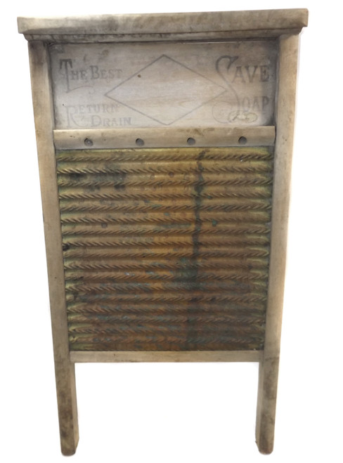 Well Worn & Weathered Monarch Mfg. Co. No. 425 Wooden Washboard - Tiffin, OH
