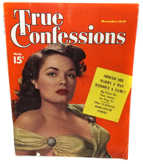 December 1949 - True Confessions - Vintage Magazine Back Issue