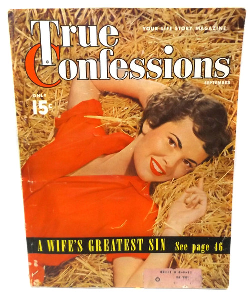 September 1950 - True Confessions - Vintage Magazine Back Issue