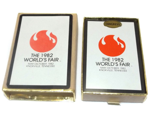 Vintage Congress NOS Sealed Deck Advertising Playing Cards 1982 World's Fair