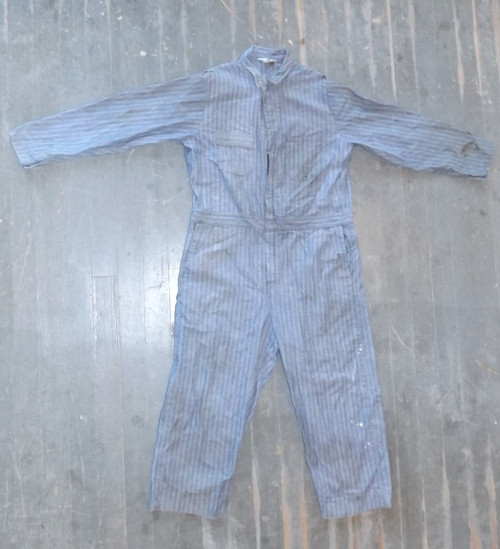 Vintage Sears Work Leisure Long Sleeved Denim Jeans Overalls Size 46T