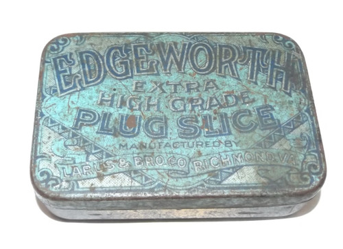 Antique Edgeworth Plug Slice Pipe Tobacco Advertising Tin