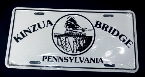 Vintage NOS Kinzua Bridge Pennsylvania Train Trestle Vanity License Plate