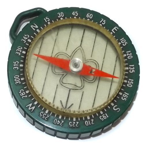 Vintage Girl Scouts of America Logo Pocket Compass