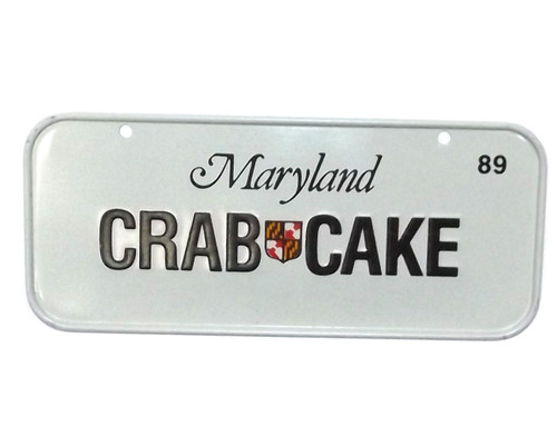Vintage 1989 Maryland Crab Cake Vanity Bike License Plate