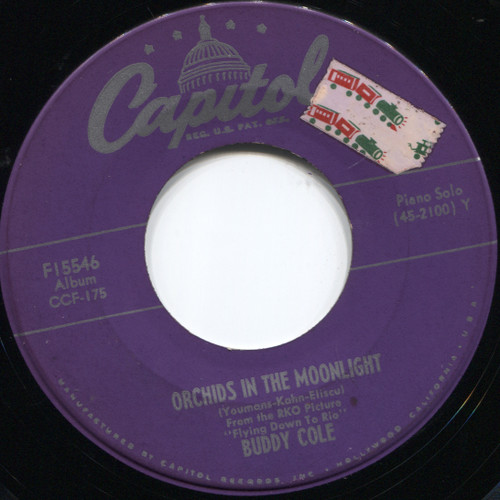 Buddy Cole: Sophisticated Lady / Orchids In The Moonlight - 45 rpm Vinyl Record