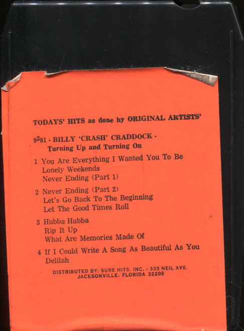 Tribute to Billy Crash Craddock Turning Up & Turning On - 8 Track Tape
