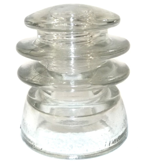 Vintage Clear Glass Armstrong #75 54 Insulator