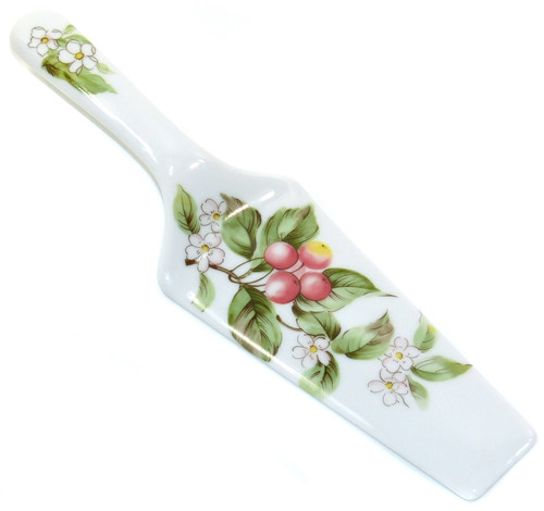 Vintage Andrea by Sadek Ceramic Cake Server Pie Spatula Knife Flower Print