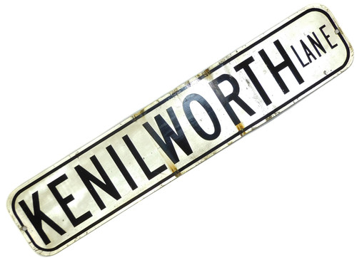 Vintage Retired Two Sided Kenilworth & Hampshire Lane Street Traffic Road Sign