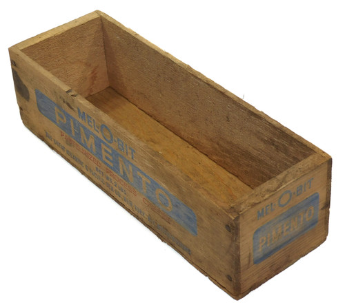 Primitive Vintage Wooden Mel-O-Bit Pimento Cheese Box