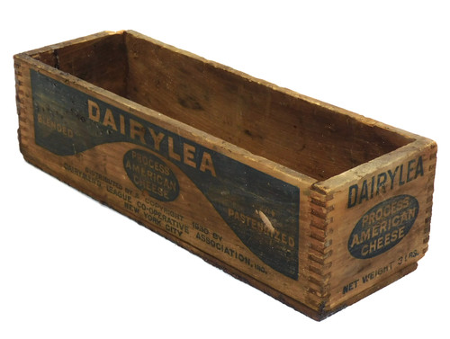 Primitive Vintage 1930 Wooden Dairylea Dairyman's League American Cheese Box