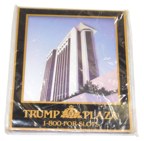 Rare Vintage NOS Trump Plaza Hotel Casino Advertising Refrigerator Magnet
