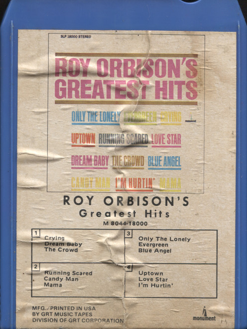 Roy Orbison: Greatest Hits - 8 Track Tape