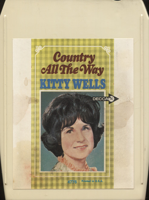 Kitty Wells: Country All the Way - 8 Track Tape