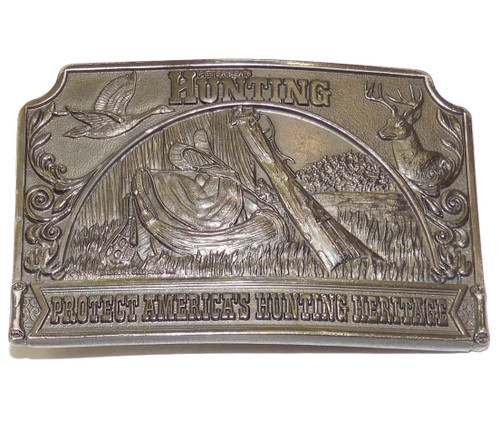 Vintage 1976 Petersen Publishing Hunting Magazine Advertising Belt Buckle