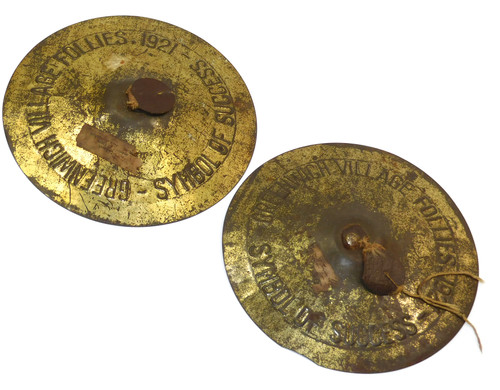 Antique 1921 Greenwich Village Follies Cymbals Symbol of Success Souvenir