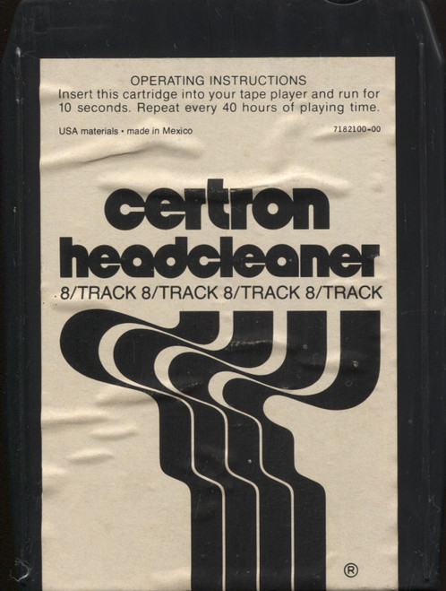 Vintage Certron Head Cleaner 8 Track Tape Player Head Cleaning Cartridge