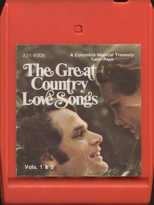 Various Artists: The Great Country Love Songs, Volumes 1 & 2 - 8 Track Tape