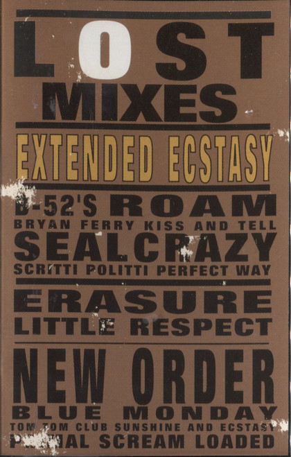Various Artists: Lost Mixes, Extended Ecstasy -  Audio Cassette Tape