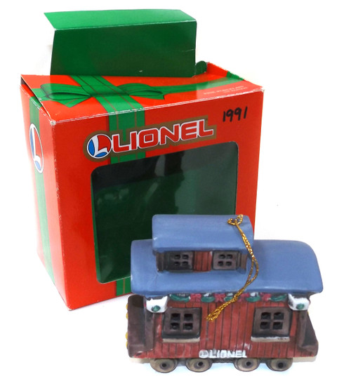 Vintage 1991 First Edition Lionel Caboose Christmas Tree Ornament in Box - Model Railroad
