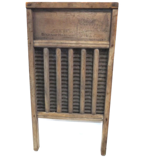 Antique Old Kentucky Home Weathered Primitive Belknap Hardware Washboard