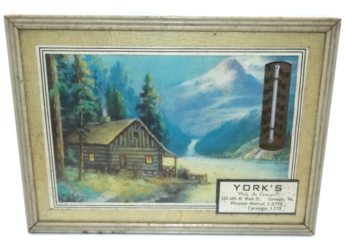 Vintage York's Only in Carnegie Advertising Thermometer - Carnegie, PA