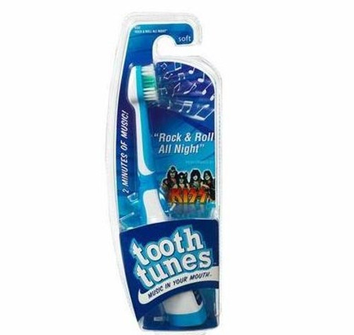 Tooth Tunes Kiss Rock 'n Roll All Nite Two Minute Musical Toothbrush -Soft