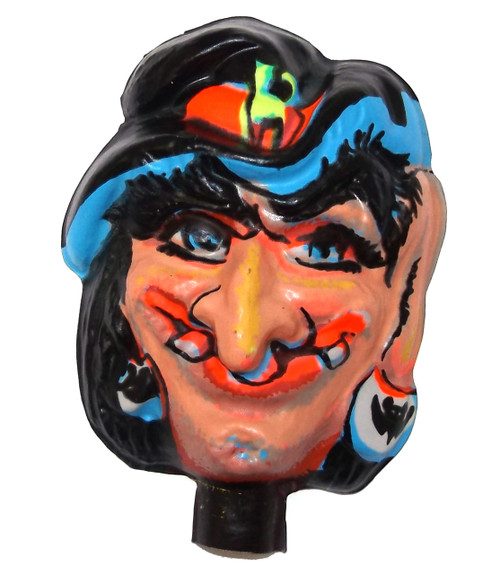 Vintage NOS Plastic Halloween Witch Face Doll Head for Cloth Doll or Crafting