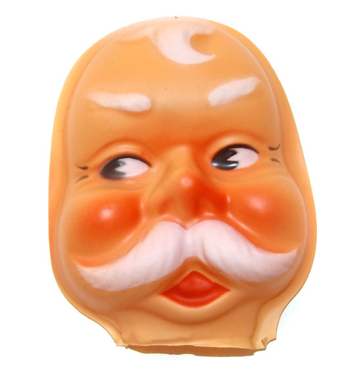 Vintage NOS Celluloid Plastic Santa Claus Christmas Baby Doll Face Head Crafting