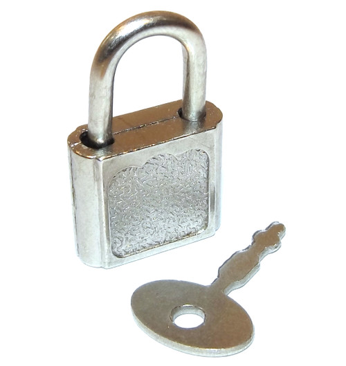 Vintage Small Unsigned Trunk Padlock - Includes Key