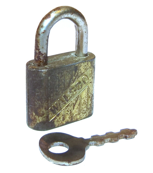 Vintage Small Walsco Trunk Padlock - Includes Key