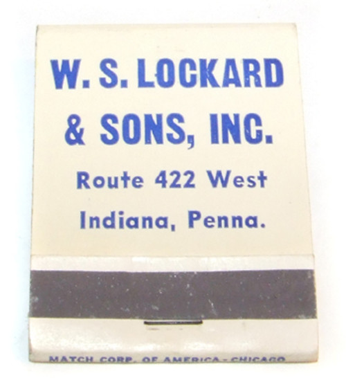 W.S. Lockard & Sons Gulf Gas & Oil Station Advertising Matchbook - Indiana, PA