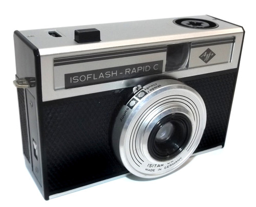 Vintage Agfa Isoflash-Rapid C 35mm Film Camera Made in Germany