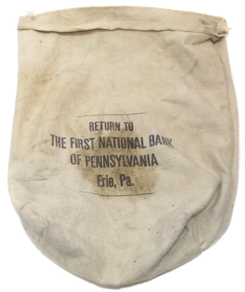 Vintage Cloth Change Bag First National Bank of Pennsylvania - Erie, PA