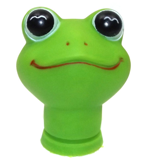"""Vintage NOS Rubber Baby Cloth Doll Face Head Frog Froggy Crafting - 3"""""""