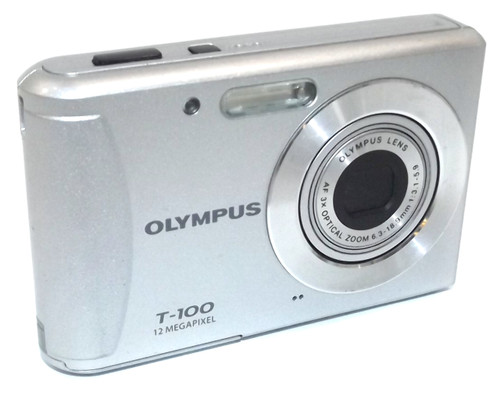 Olympus T-100 12 Megapixel 3x Zoom Digital Camera with Battery