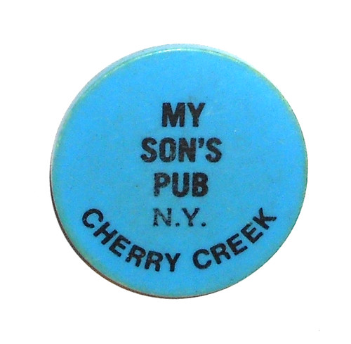 Vintage Beer Chip Drink Token from My Son's Pub - Cherry Creek, NY