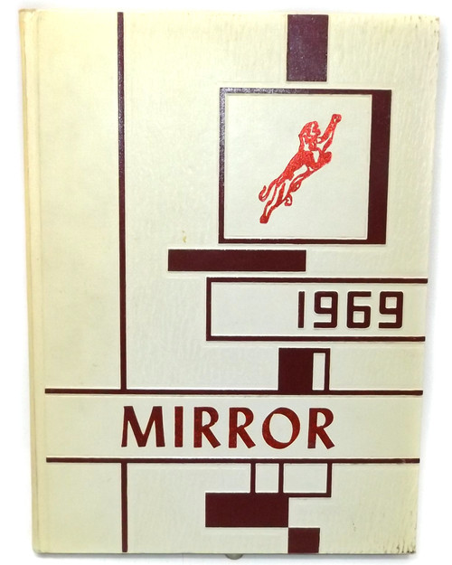 Vintage 1969 Mirror - Little Valley Central School Yearbook - Little Valley, NY
