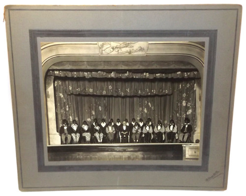 Antique Photo Blackface Minstrel Show in Jamestown, NY with 17 Named Subjects