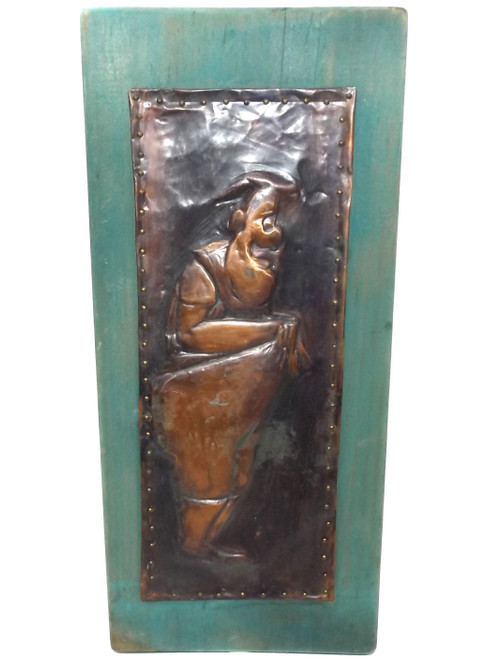 Vintage Retro Handmade Mad Magazine Character Copper Stamped Wall Plaque