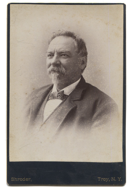 Antique Cabinet Card Photograph of Named Man in Suit with Goatee - Troy, NY